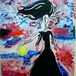 moon goddess, 22 x 21 inch, shagun singh,22x21inch,canvas,paintings,abstract paintings,acrylic color,GAL01653427561