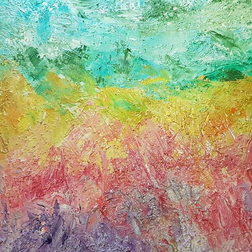 happy place, 36 x 24 inch, deepali sinha,36x24inch,canvas,paintings,abstract paintings,acrylic color,GAL01574227562