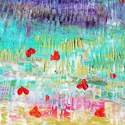 flowerbed-012, 12 x 16 inch, deepali sinha,12x16inch,canvas,paintings,abstract paintings,acrylic color,GAL01574227568