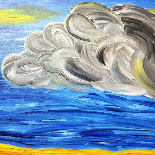 clouds - 021, 16 x 12 inch, deepali sinha,16x12inch,canvas,paintings,abstract paintings,acrylic color,GAL01574227579
