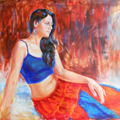 figure1, 36 x 36 inch, dr rashmi  prasad,36x36inch,canvas,paintings,figurative paintings,contemporary paintings,acrylic color,GAL01436827581