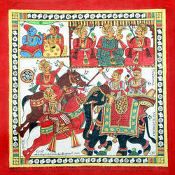 pabu ji ki phad, 12 x 12 inch, abhishek joshi,12x12inch,cloth,paintings,phad painting,natural color,GAL01642527591