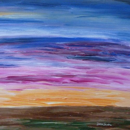sky 017, 24 x 18 inch, deepali sinha,24x18inch,canvas,paintings,abstract paintings,landscape paintings,nature paintings   scenery paintings,abstract expressionism paintings,art deco paintings,impressionist paintings,contemporary paintings,paintings for dining room,paintings for living room,paintings for bedroom,paintings for office,paintings for bathroom,paintings for kids room,paintings for hotel,paintings for kitchen,paintings for school,acrylic color,GAL01574227596