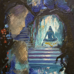 shiva and gauri near cave, 11 x 14 inch, anna-g negi,11x14inch,canvas,abstract paintings,modern art paintings,religious paintings,nature paintings | scenery paintings,expressionism paintings,impressionist paintings,lord shiva paintings,paintings for living room,paintings for bedroom,paintings for hotel,paintings for living room,paintings for bedroom,paintings for hotel,acrylic color,oil color,GAL01519527648
