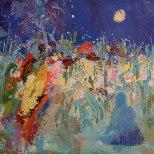 magic night meditation on the fild  of  himalaya , 15 x 11 inch, anna-g negi,15x11inch,canvas,paintings,abstract paintings,buddha paintings,modern art paintings,abstract expressionism paintings,expressionism paintings,impressionist paintings,paintings for dining room,paintings for living room,paintings for bedroom,paintings for office,paintings for hotel,paintings for kitchen,acrylic color,GAL01519527653