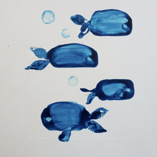 4  blue fish, 10 x 12 inch, anna-g negi,10x12inch,canvas,paintings,abstract paintings,modern art paintings,abstract expressionism paintings,expressionism paintings,impressionist paintings,animal paintings,paintings for dining room,paintings for living room,paintings for bedroom,paintings for office,paintings for hotel,paintings for kitchen,oil color,GAL01519527656