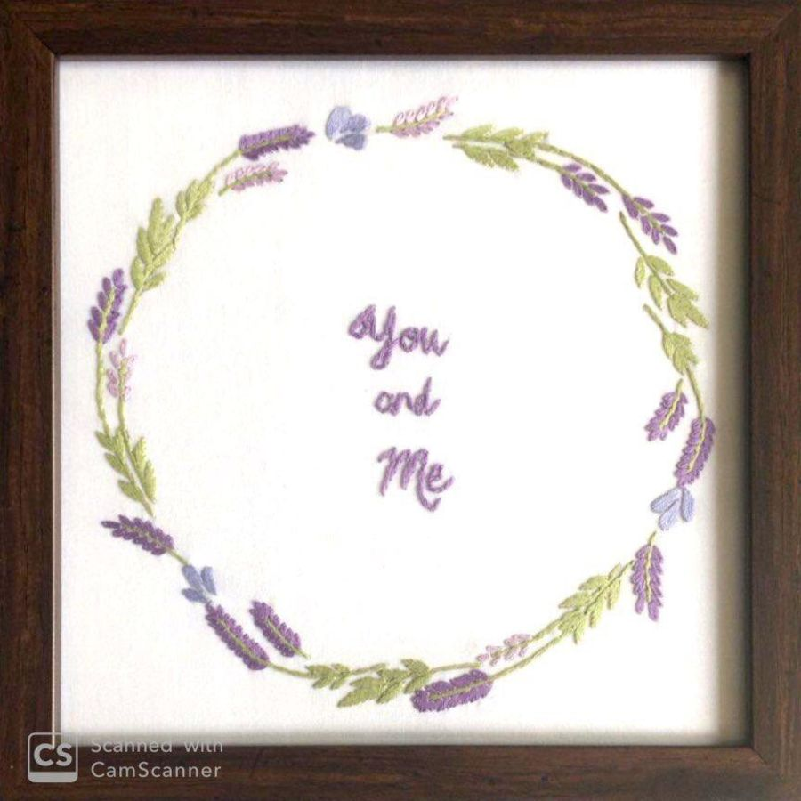 you and me- togetherness, 8 x 8 inch, divya rathor,8x8inch,cloth,handicrafts,embroidery work,fabric,GAL01657127672