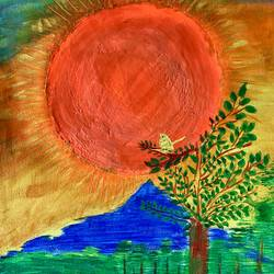 sunset , 16 x 12 inch, minakhi choudhury,16x12inch,canvas,paintings,abstract paintings,landscape paintings,nature paintings | scenery paintings,paintings for living room,paintings for office,acrylic color,fabric,mixed media,GAL01441427680