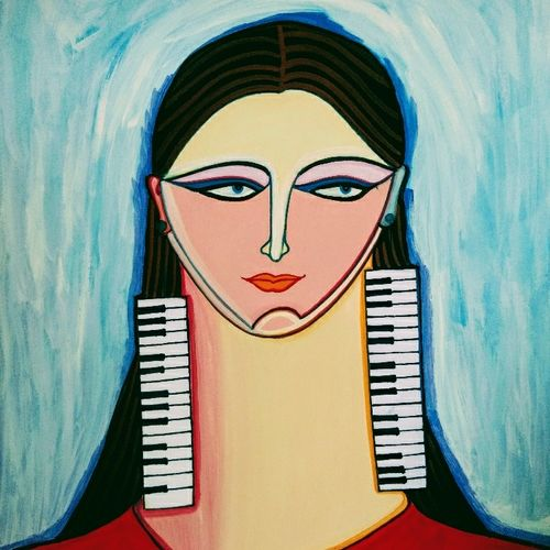 personifying music, 6 x 8 inch, sarah siddiqui,6x8inch,ivory sheet,abstract paintings,figurative paintings,folk art paintings,modern art paintings,conceptual paintings,portrait paintings,art deco paintings,expressionism paintings,realism paintings,contemporary paintings,paintings for dining room,paintings for living room,paintings for bedroom,paintings for office,paintings for hotel,paintings for dining room,paintings for living room,paintings for bedroom,paintings for office,paintings for hotel,mixed media,watercolor,GAL0789627706