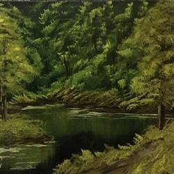 the greenlands, 17 x 12 inch, hansy meshak,17x12inch,canvas board,landscape paintings,nature paintings | scenery paintings,acrylic color,oil color,GAL01115127715