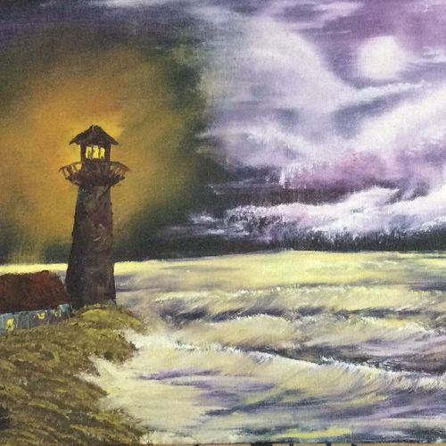 the light house, 17 x 12 inch, hansy meshak,17x12inch,canvas board,paintings,landscape paintings,nature paintings | scenery paintings,oil color,GAL01115127718