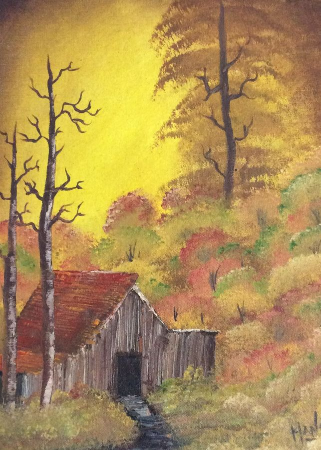 autumn, 12 x 17 inch, hansy meshak,12x17inch,canvas board,landscape paintings,nature paintings | scenery paintings,oil color,GAL01115127719