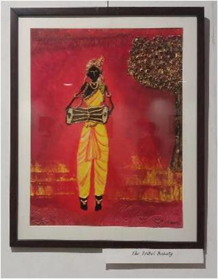 the tribal beauty, 20 x 12 inch, siddhi nigam,20x12inch,thick paper,paintings,abstract paintings,figurative paintings,modern art paintings,multi piece paintings,abstract expressionism paintings,contemporary paintings,paintings for dining room,paintings for living room,paintings for bedroom,paintings for bathroom,paintings for hotel,paintings for dining room,paintings for living room,paintings for bedroom,paintings for bathroom,paintings for hotel,acrylic color,ceramic,mixed media,poster color,GAL0978127727