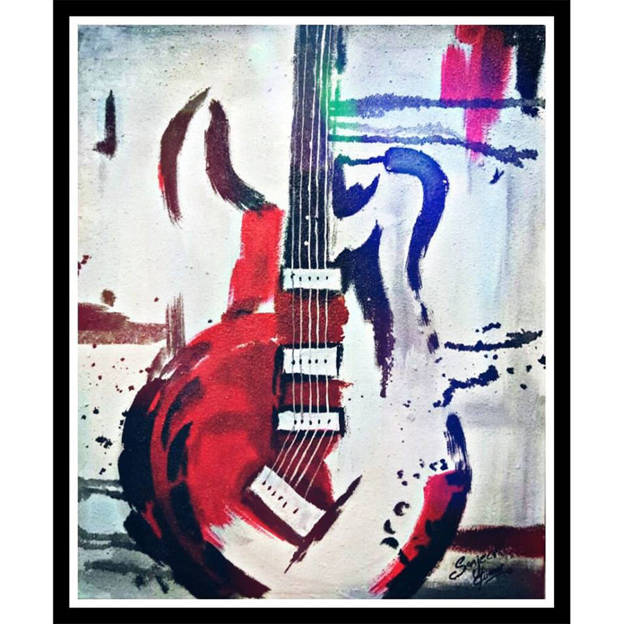 the lost rockstar , 16 x 20 inch, sanjeev kumar,16x20inch,canvas,paintings,modern art paintings,still life paintings,paintings for dining room,paintings for living room,paintings for office,paintings for bathroom,paintings for kids room,paintings for hotel,paintings for school,acrylic color,GAL0456827738
