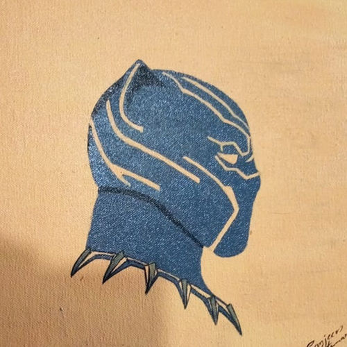 black panther , 11 x 16 inch, sanjeev kumar,11x16inch,canvas,paintings,abstract paintings,paintings for dining room,paintings for living room,paintings for bedroom,paintings for office,paintings for kids room,paintings for hotel,paintings for school,acrylic color,GAL0456827749