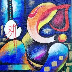 vignesh 01, 16 x 20 inch, susree saswati nayak,16x20inch,canvas,paintings,abstract paintings,ganesha paintings | lord ganesh paintings,paintings for dining room,paintings for living room,paintings for office,paintings for kids room,paintings for hotel,paintings for school,paintings for hospital,acrylic color,GAL0866927755