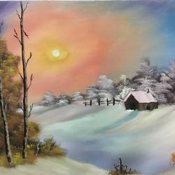 morning snow, 20 x 16 inch, shankhadeep  mondal,20x16inch,canvas,landscape paintings,paintings for dining room,paintings for living room,paintings for bedroom,paintings for dining room,paintings for living room,paintings for bedroom,acrylic color,GAL01403027757