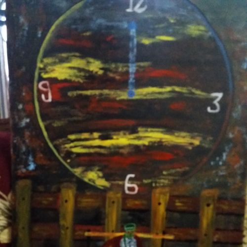 time, 23 x 35 inch, sandeep joshi,23x35inch,canvas,abstract paintings,paintings for dining room,paintings for dining room,oil color,GAL0778527760