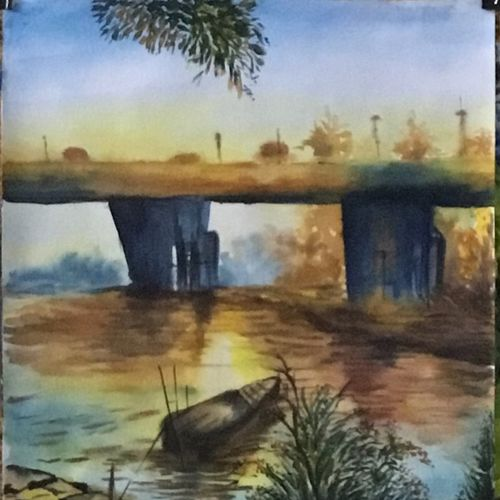 morning breeze , 11 x 16 inch, shankhadeep  mondal,11x16inch,cartridge paper,paintings,landscape paintings,paintings for dining room,paintings for living room,paintings for bedroom,paintings for office,paintings for kids room,paintings for hotel,paintings for school,watercolor,GAL01403027765