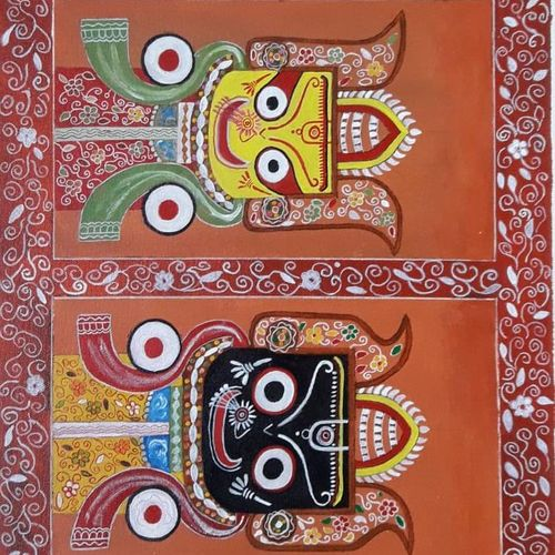 lord jagannath, 24 x 14 inch, rita maiti,24x14inch,canvas,paintings,religious paintings,paintings for living room,acrylic color,GAL01670627766