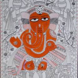 lord ganesha , 14 x 20 inch, rita maiti,14x20inch,handmade paper,paintings,madhubani paintings | madhubani art,paintings for dining room,paintings for living room,paintings for bedroom,paintings for office,paintings for hotel,paintings for school,paintings for hospital,paintings for dining room,paintings for living room,paintings for bedroom,paintings for office,paintings for hotel,paintings for school,paintings for hospital,acrylic color,pen color,paper,GAL01670627768
