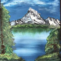 mountain, 8 x 12 inch, amit soni,8x12inch,oil sheet,landscape paintings,nature paintings | scenery paintings,surrealism paintings,oil color,GAL01671927790