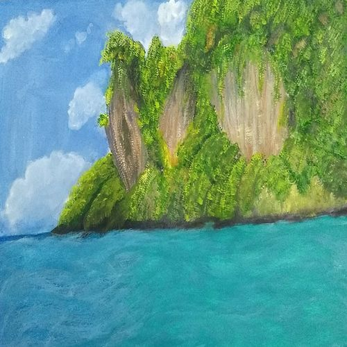 beautiful seascape, 17 x 12 inch, urvashi verma,17x12inch,canson paper,paintings,nature paintings   scenery paintings,realistic paintings,paintings for dining room,paintings for living room,paintings for bedroom,paintings for hotel,paintings for dining room,paintings for living room,paintings for bedroom,paintings for hotel,watercolor,GAL01503927796