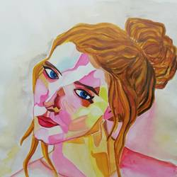 behind blue eyes, 12 x 17 inch, sneha  tomar,12x17inch,drawing paper,paintings,abstract paintings,portrait paintings,illustration paintings,paintings for living room,paintings for office,acrylic color,poster color,GAL01285827821