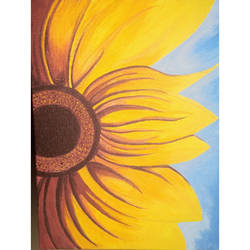 sunflower , 8 x 10 inch, bhagyashree patkar,8x10inch,canvas,paintings,flower paintings,acrylic color,GAL01667527833