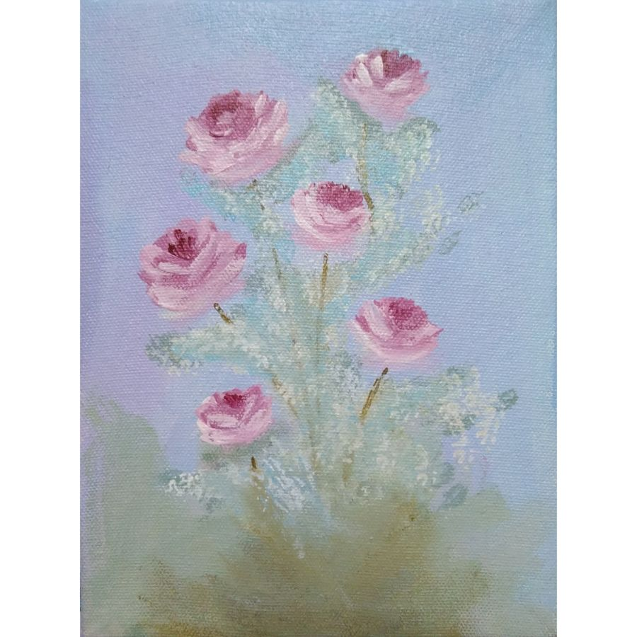 roses, 6 x 8 inch, shirin kadam,6x8inch,canvas board,paintings,flower paintings,paintings for dining room,paintings for living room,paintings for bedroom,paintings for office,paintings for bathroom,paintings for hotel,paintings for kitchen,paintings for dining room,paintings for living room,paintings for bedroom,paintings for office,paintings for bathroom,paintings for hotel,paintings for kitchen,acrylic color,GAL01388427839