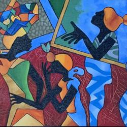 fruit market, 17 x 13 inch, gaurav kedia,17x13inch,canvas,paintings,figurative paintings,modern art paintings,art deco paintings,paintings for dining room,paintings for living room,paintings for bedroom,paintings for office,paintings for bathroom,paintings for kids room,paintings for hotel,paintings for kitchen,paintings for school,paintings for hospital,acrylic color,GAL01682327859