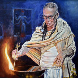 prayer , 24 x 18 inch, debojyoti boruah,24x18inch,canvas board,paintings,figurative paintings,religious paintings,portrait paintings,photorealism paintings,photorealism,portraiture,realism paintings,realistic paintings,paintings for dining room,paintings for living room,paintings for bedroom,paintings for office,paintings for bathroom,paintings for hotel,paintings for kitchen,paintings for hospital,acrylic color,GAL01261427865