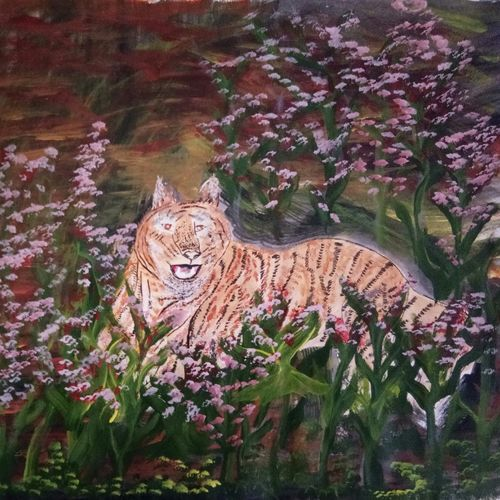 lion painting, 12 x 15 inch, anuj kushwaha,12x15inch,paper,paintings,wildlife paintings,landscape paintings,nature paintings | scenery paintings,animal paintings,paintings for dining room,paintings for living room,paintings for bedroom,paintings for office,paintings for kids room,paintings for hotel,paintings for school,acrylic color,paper,GAL01592627870