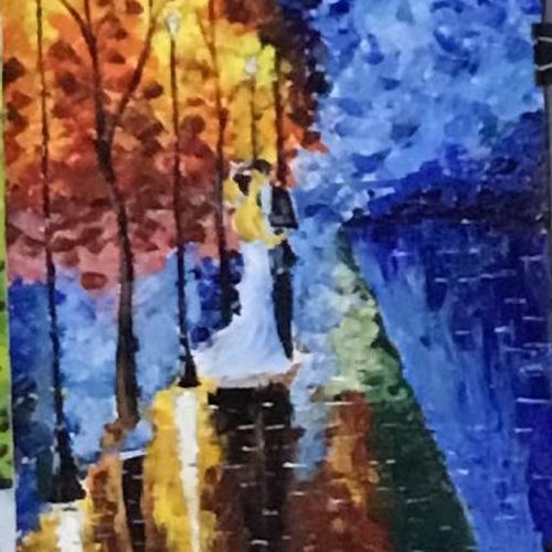 lonely love, 12 x 17 inch, shankhadeep  mondal,12x17inch,canvas,paintings,impressionist paintings,paintings for dining room,paintings for living room,paintings for bedroom,paintings for office,paintings for kids room,paintings for hotel,paintings for kitchen,paintings for school,paintings for hospital,acrylic color,GAL01403027874