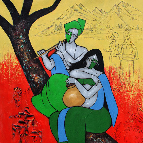 brace, 28 x 26 inch, chetan katigar,28x26inch,canvas,paintings,abstract paintings,figurative paintings,modern art paintings,conceptual paintings,art deco paintings,expressionism paintings,impressionist paintings,animal paintings,radha krishna paintings,contemporary paintings,love paintings,paintings for dining room,paintings for living room,paintings for bedroom,paintings for office,paintings for hotel,acrylic color,GAL026627896