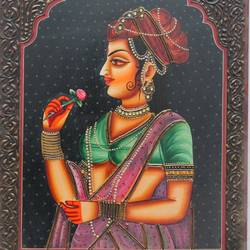 queen, 16 x 12 inch, vishal gurjar,16x12inch,wood board,paintings,figurative paintings,portrait paintings,paintings for living room,paintings for bedroom,paintings for hotel,paintings for school,acrylic color,oil color,GAL0778127905