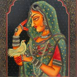 queen, 16 x 12 inch, vishal gurjar,16x12inch,wood board,paintings,figurative paintings,portrait paintings,paintings for living room,paintings for bedroom,paintings for hotel,paintings for school,acrylic color,oil color,GAL0778127908