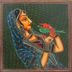 queen, 16 x 12 inch, vishal gurjar,16x12inch,wood board,paintings,figurative paintings,portrait paintings,paintings for living room,paintings for bedroom,paintings for hotel,acrylic color,oil color,GAL0778127913