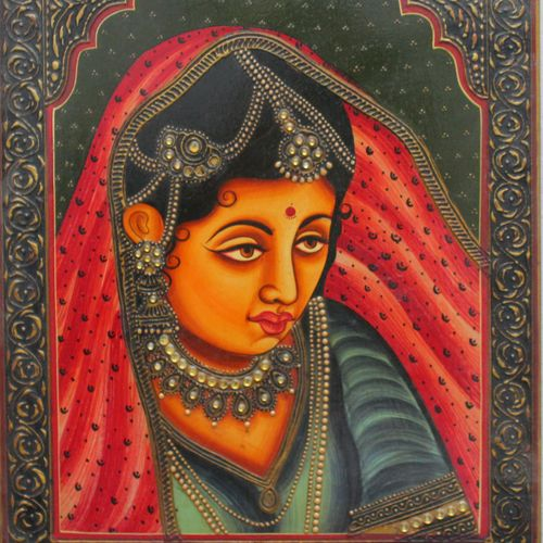 queen, 16 x 12 inch, vishal gurjar,16x12inch,wood board,paintings,figurative paintings,portrait paintings,paintings for living room,paintings for bedroom,paintings for hotel,acrylic color,oil color,GAL0778127914
