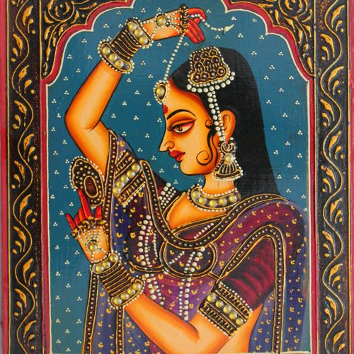 queen, 16 x 12 inch, vishal gurjar,16x12inch,wood board,paintings,figurative paintings,portrait paintings,paintings for living room,paintings for bedroom,paintings for hotel,acrylic color,oil color,GAL0778127915