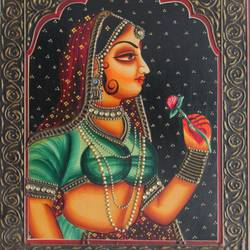 queen, 16 x 12 inch, vishal gurjar,16x12inch,wood board,paintings,figurative paintings,portrait paintings,paintings for living room,paintings for bedroom,paintings for hotel,acrylic color,oil color,GAL0778127917