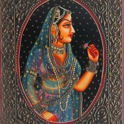queen, 16 x 12 inch, vishal gurjar,16x12inch,wood board,paintings,figurative paintings,portrait paintings,paintings for living room,paintings for bedroom,paintings for hotel,acrylic color,oil color,GAL0778127918