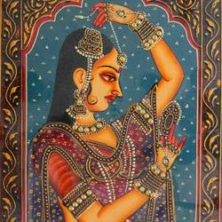 queen, 16 x 12 inch, vishal gurjar,16x12inch,wood board,paintings,figurative paintings,portrait paintings,paintings for living room,paintings for bedroom,paintings for hotel,acrylic color,oil color,GAL0778127919