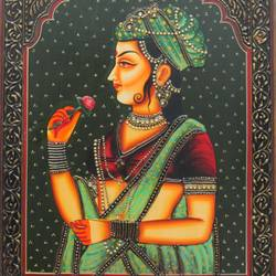 queen, 16 x 12 inch, vishal gurjar,16x12inch,wood board,paintings,figurative paintings,portrait paintings,paintings for living room,paintings for bedroom,paintings for hotel,acrylic color,oil color,GAL0778127920