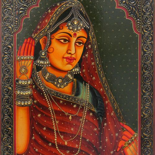 queen, 16 x 12 inch, vishal gurjar,16x12inch,wood board,paintings,figurative paintings,portrait paintings,paintings for living room,paintings for bedroom,paintings for hotel,acrylic color,oil color,GAL0778127921