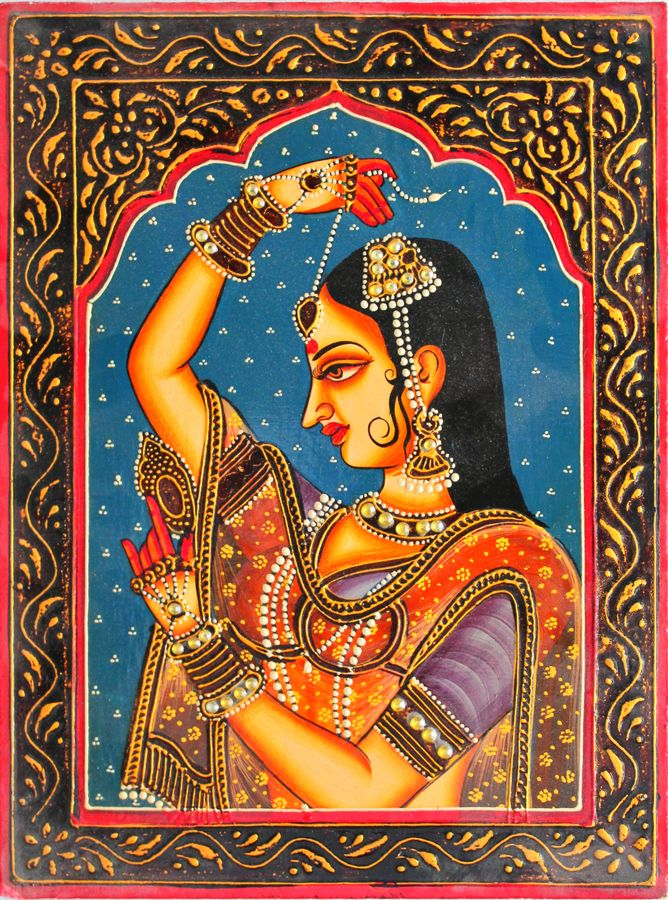 queen, 16 x 12 inch, vishal gurjar,16x12inch,wood board,paintings,figurative paintings,portrait paintings,paintings for living room,paintings for bedroom,paintings for hotel,acrylic color,oil color,GAL0778127922