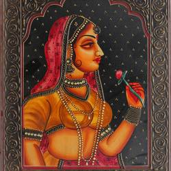 queen, 16 x 12 inch, vishal gurjar,16x12inch,wood board,paintings,figurative paintings,portrait paintings,paintings for living room,paintings for bedroom,paintings for hotel,acrylic color,oil color,GAL0778127925
