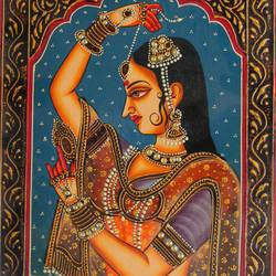 queen, 16 x 12 inch, vishal gurjar,16x12inch,wood board,paintings,figurative paintings,portrait paintings,paintings for living room,paintings for bedroom,paintings for hotel,acrylic color,oil color,GAL0778127928