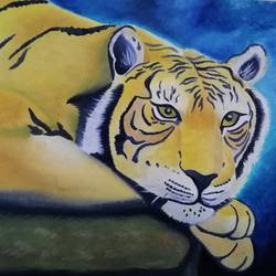 focus, 13 x 18 inch, sneha  tomar,13x18inch,oil sheet,paintings,wildlife paintings,nature paintings | scenery paintings,animal paintings,paintings for dining room,paintings for living room,paintings for bedroom,paintings for office,paintings for kids room,paintings for hotel,oil color,GAL01285827949