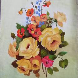 yellow flowers , 10 x 14 inch, sneha  tomar,10x14inch,oil sheet,paintings,flower paintings,nature paintings | scenery paintings,art deco paintings,paintings for dining room,paintings for living room,paintings for bedroom,paintings for office,paintings for hotel,paintings for kitchen,paintings for hospital,oil color,GAL01285827950